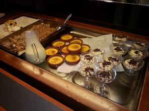 Dessertbordet på hotellet