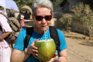 Helt frisk kokosmælk